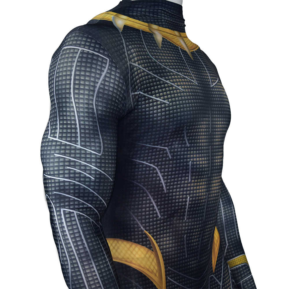 Black Panther T'Challa Superhero Halloween Cosplay Costume Zentai Suit With Mask Halloween Carnival Masquerade -Takerlama