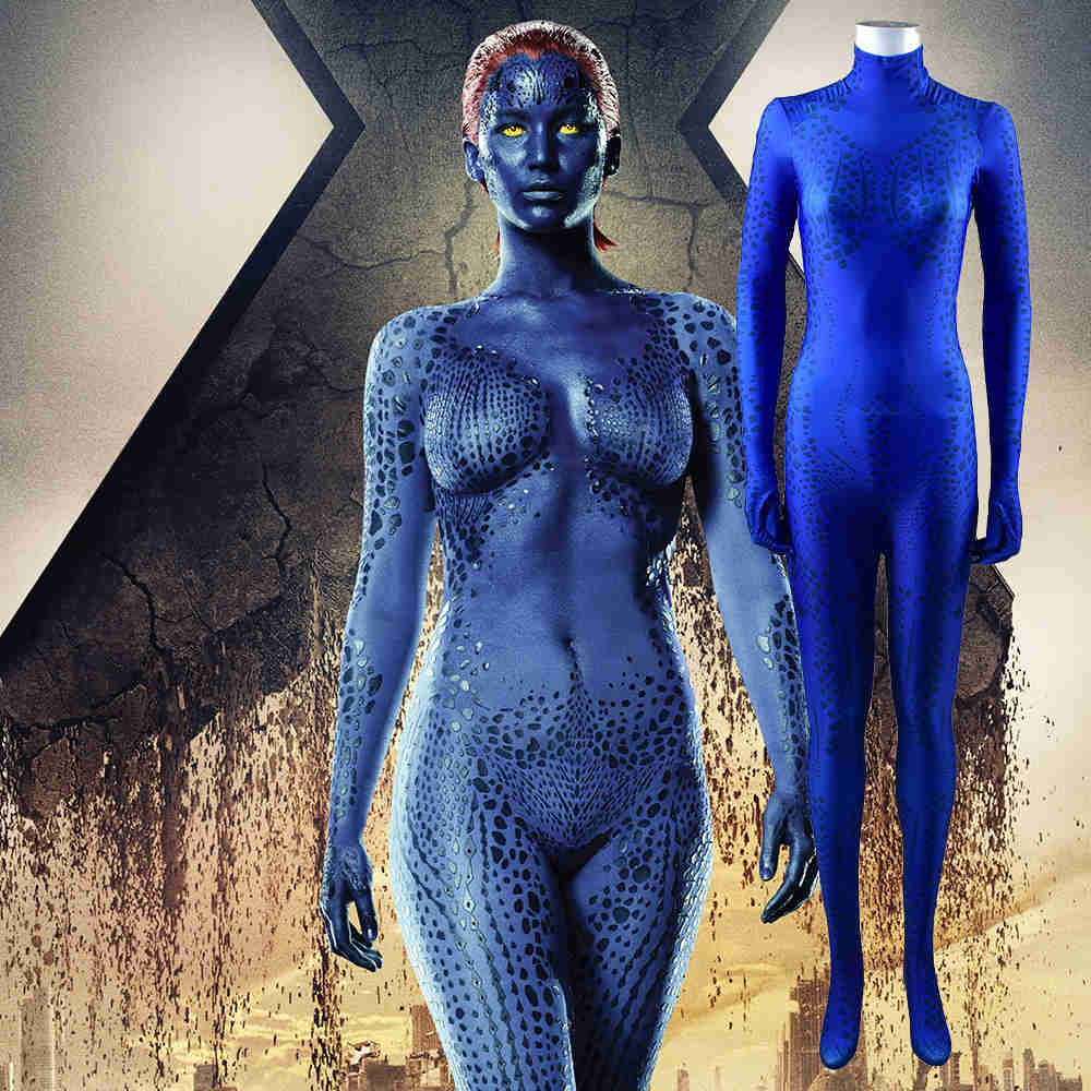 X-Men Apocalypse Mystique 3D Print Cosplay Costume Raven Darkholme Days of Future PastKids Women Men-Takerlama