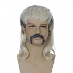 Tiger King Joe Exotic Trainer Cosplay Costume Wig With Goatee Earings