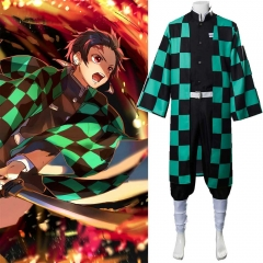 Adults Kamado Tanjirou Uniform Demon Slayer Kimetsu no Yaiba Cosplay Costume