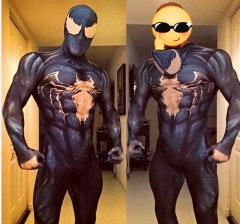 Venom Symbiote Spider-Man Costume Peter Parker Black Alien Suit