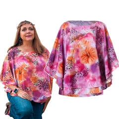 Carole Baskin Costume Tiger King  Floral Halloween Shirt with Flower Garland