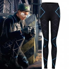 Game Watch Dogs Legion Women Skinny Pants Leggings Cosplay Costume