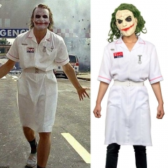 Heath Ledger Joker Nurse Cosplay Costume Dress With Mask Batman Dark Knight