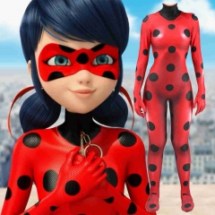 Anime Miraculous Ladybug Cosplay Costume Marinette Red Zentai Suit