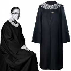 RBG Ruth Bader Ginsburg Judge Women's Halloween  Dissent Costume-Takerlama