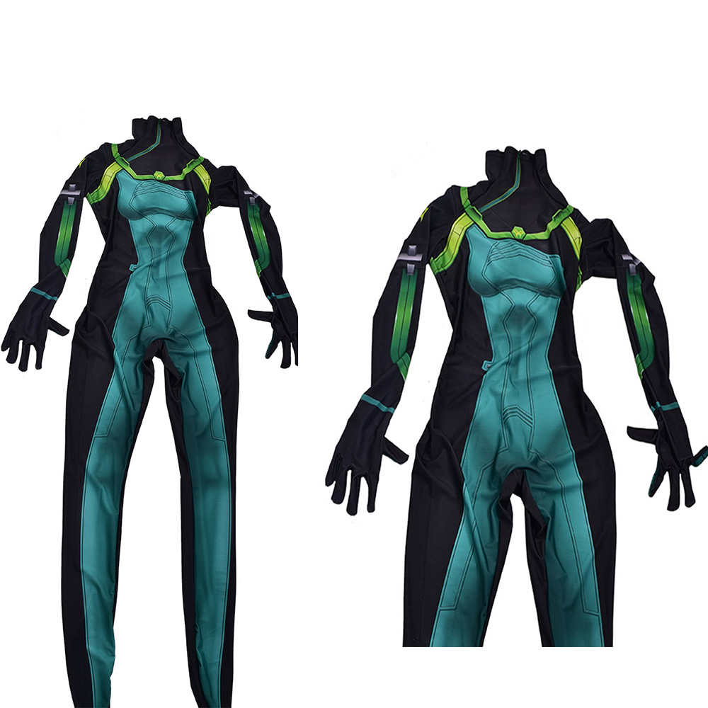 Valorant Viper Cosplay Women Jumpsuit Romper Suit Halloween Carnival Outfit Costume-Takerlama