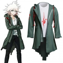 Super Danganronpa 2 Men Nagito Komaeda Jacket Cosplay Costume-Takerlama