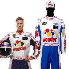 Ricky Bobby Nascar Cosplay Costume Talladega Nights Wonder Bread Racing Apparel