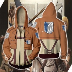 Unisex Attack On Titan Survey Corps Wings of Freedom Hooded Sweatshirt