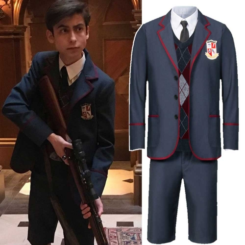 The Umbrella Academy Boys School Uniform Number Five Men Cosplay Costume