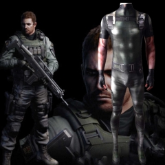 Resident Evil 5 Chris RedField Zentai Suit RE5 Costume