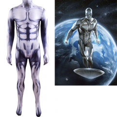 Silver Sufer Cosplay Costume Superhero Norrin Radd Muscle Suit