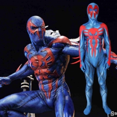 Spider-Man 2099 Miguel O'Hara Cosplay Costume Into the Spider-Verse