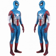 Superhero Captain America Spiderman Cosplay Costume