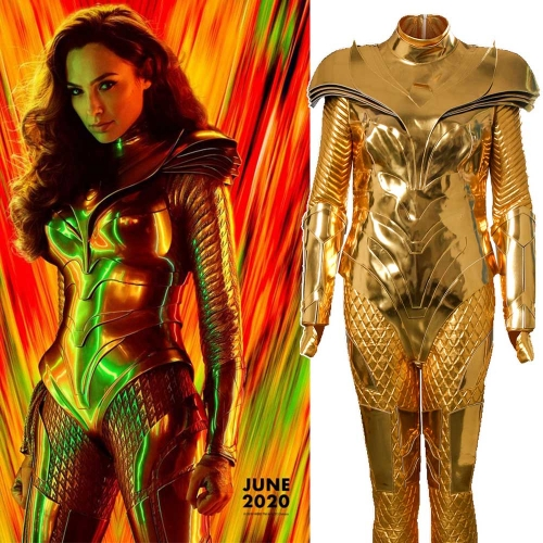 Wonder Woman 1984 Diana Prince Cosplay Costume Golden Suit​​​​​​​