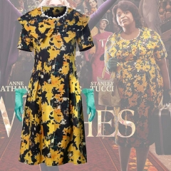The Witches Grandmother Octavia Spencer 50S Floral Dress With Gloves