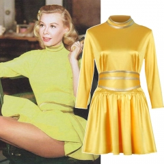White Christmas Betty Haynes Yellow Costume Dress