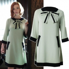The Queen's Gambit Beth Harmon 60s Mint Cosplay Dress
