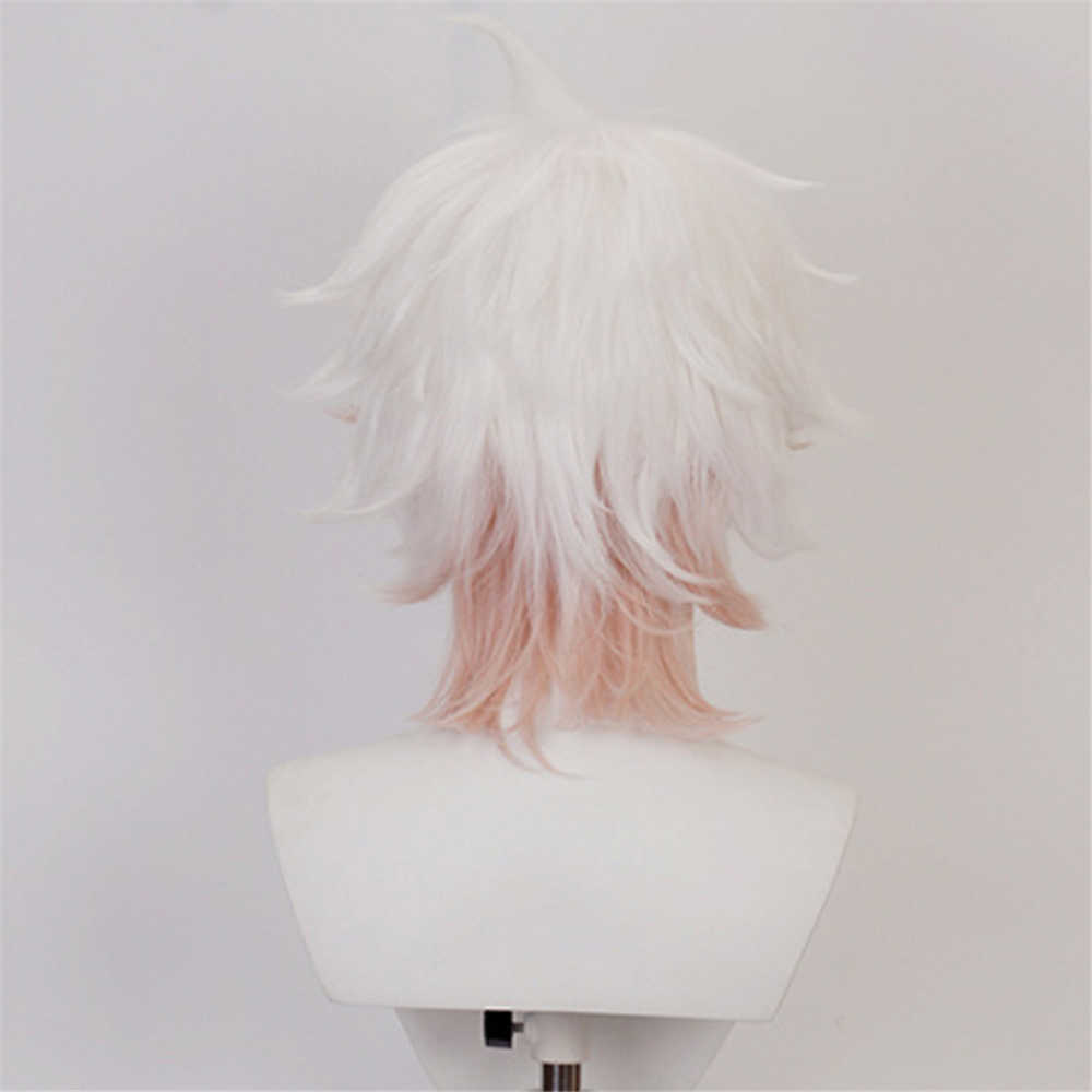 Super Danganronpa 2 Cosplay Nagito Komaeda Cosplay Wig Costume Hair Masquerade-Takerlama