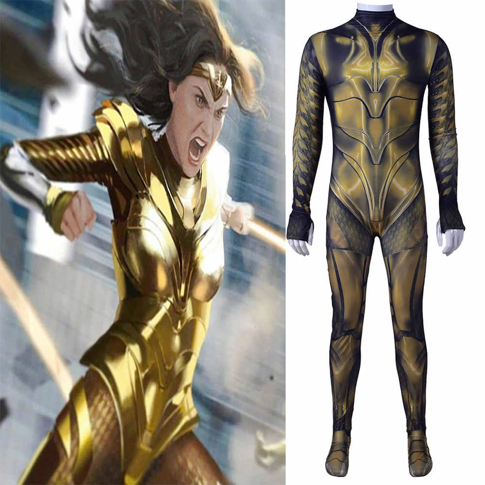 Wonder Woman 1984 Movie Cosplay Costume Halloween Zentai Suit For Women Kids-Takerlama