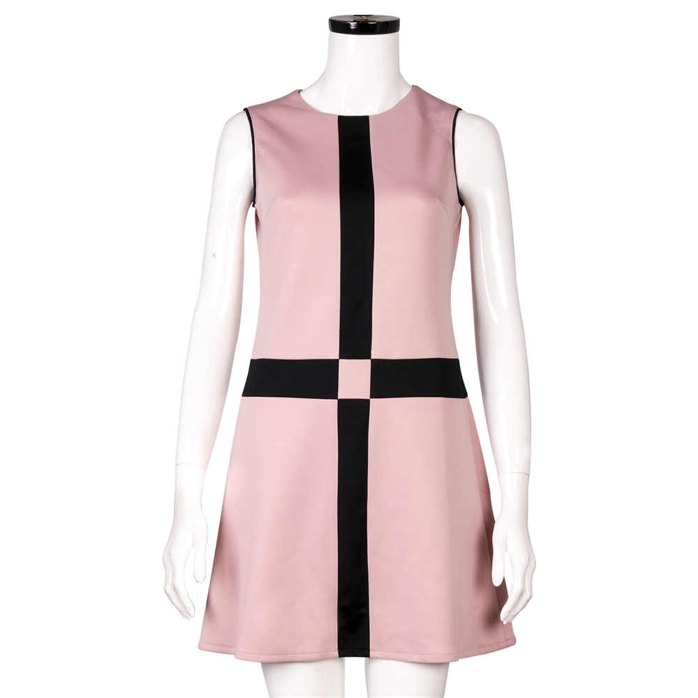 The Queen's Gambit Beth Harmon Paris Cross Pink Party Dress Chess Queen Cosplay Costume Christmas Gift Adults Women
