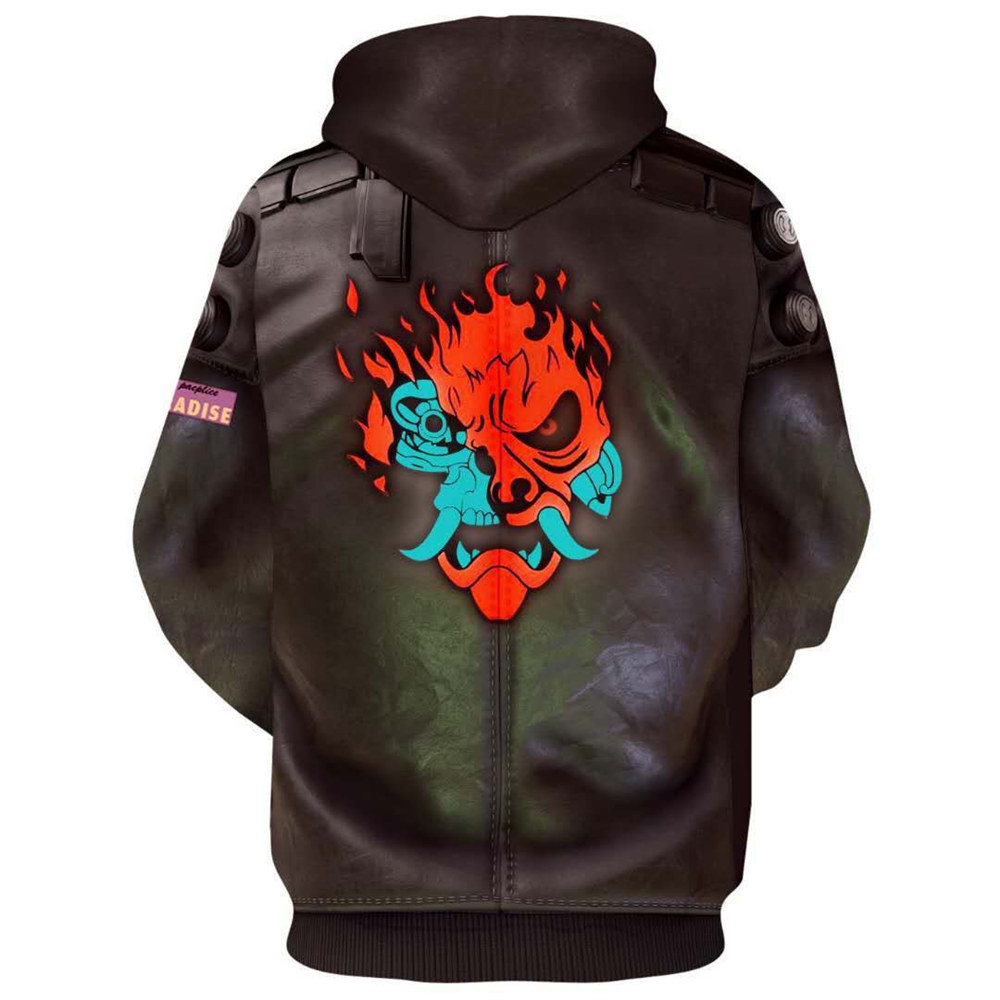Game Cyberpunk 2077 Samurai V 3D Print Hoodies Pullover Zip-Up Sweatshirt Coat-Takerlama