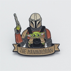 Star Wars The Mandalorian Baby Yoda Boba Fett Brooch
