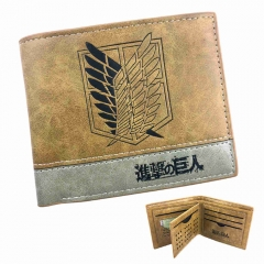 Attack on Titan Black PU Leather Wallet Shingeki No Kyojin Survey Corps Purse