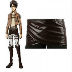 Attack on Titan 104th Cadet Corps  Eren Costume Yeager Leather Skirt Shingeki No Kyojin