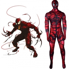 Carnage Cletus Kasady Cosplay Zentai Suit MAsk Kids Adults-Venom: Let There Be Carnage