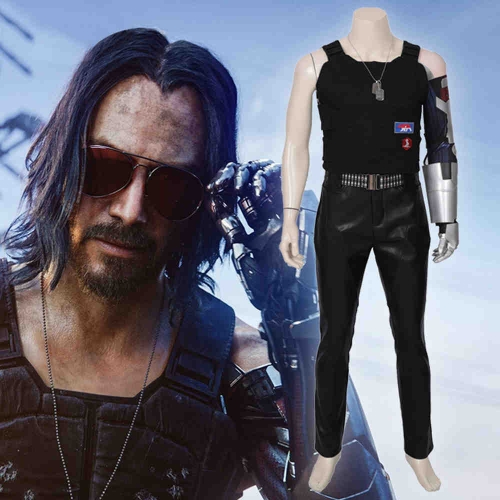 Cyberpunk 2077 Johnny Silverhand Samurai Cosplay Costume Adult