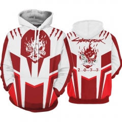 Cyberpunk 2077 Samurai V White Red Hoodies