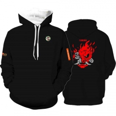 Cyberpunk 2077 Samurai Black Pullover Hoodie With Pocket