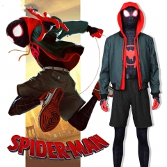 Spider-Man Into the Spider-Verse Miles Morales Cosplay Costumes Adult