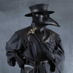 Leather Belt Plague Doctor Steampunk Cosplay Hat