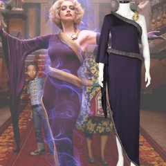 The Witches Grand High Witch Anne Hathaway Purple Dress With Snake Replica