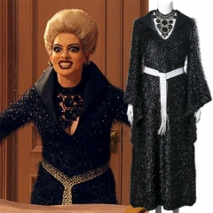 Roald Dahl's The Witches Anne Hathaway Black Cosplay Dress With Necklace