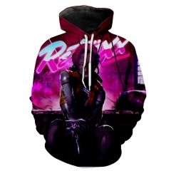 Cyberpunk 2077 Samurai V Pullover Hoodie With Pockets