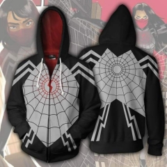 Silk Spider Cindy Moon Zip Up Spider-Man Hoodie