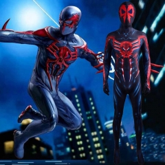 Cyberpunk Spider-Man 2099 Miguel O'Hara Costume With Detachable Mask
