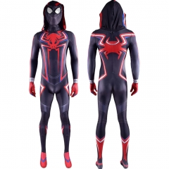 Spider-Man Miles Morales 2099 Hood Suit Mask Adult Kids