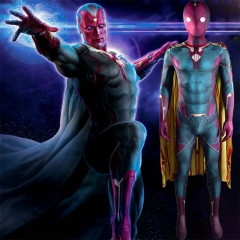 Adult Kids WandaVision Superhero Cosplay Zentai Suit With Mask Cloak