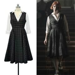 The Queen's Gambit Beth Harmon Plaid A-Line Dress