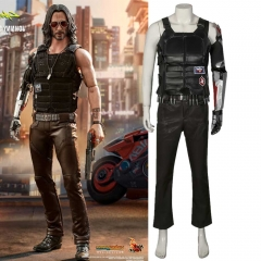 Leather Cyberpunk 2077 Cosplay Costumes Johnny Silverhand Suit