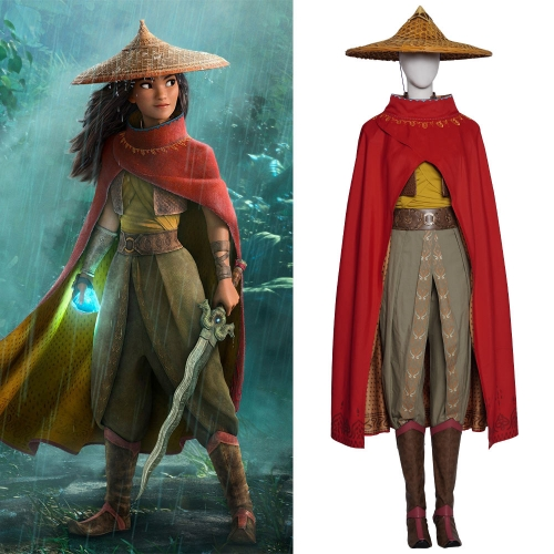 Raya and the Last Dragon Raya Cosplay Costume (No Boots)