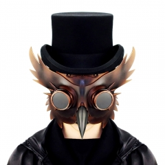 Steampunk Birds Beak Brown Mask Plague Doctor Cosplay Props