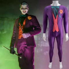DC Comics The Joker Body Suit Cosplay Costume Adult Kids
