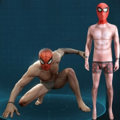 Spiderman PS4 Undies Suit Cosplay Costume Adult Kids