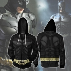 Batman The Dark Knight Bruce Wayne Zip Up Hoodie